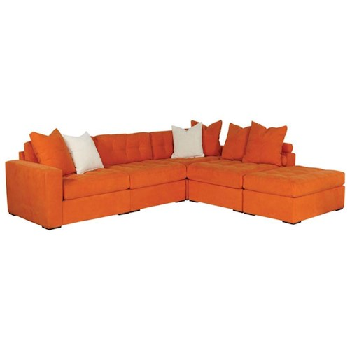 Jonathan Louis Noah Contemporary 5 Piece Sectional With