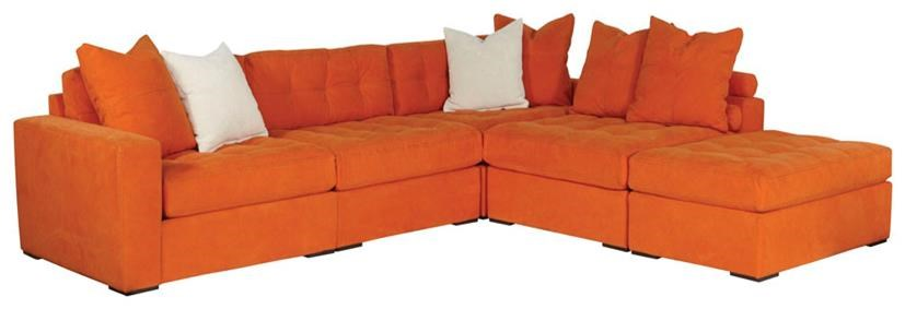 Jonathan Louis Noah Contemporary 5-Piece Sectional with Ottoman - Pilgrim Furniture City - Sofa ...