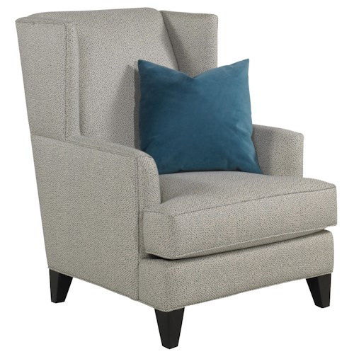 Jonathan Louis Pauline Upholstered Accent Wing Chair Bennett 39 S Home Furnishings Wing Chair