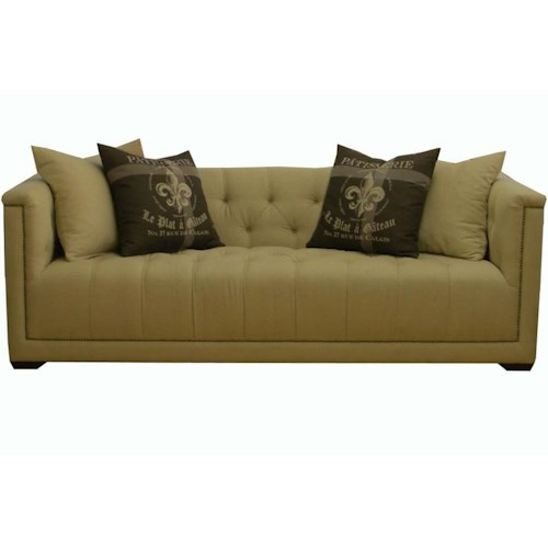 Jonathan Louis Roosevelt Traditional Estate Sofa With Nail Head Trim Bennett 39 S Home