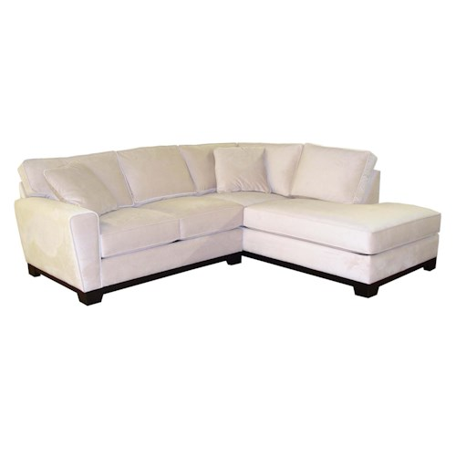 Jonathan Louis Taurus Contemporary 2 Piece Sectional With Track Arms Bennett 39 S Home