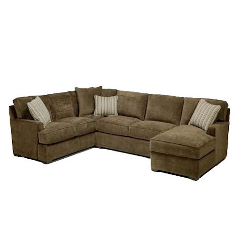 Blue hawaii contemporary 3 piece sectional with chaise for Sectional sofa hawaii