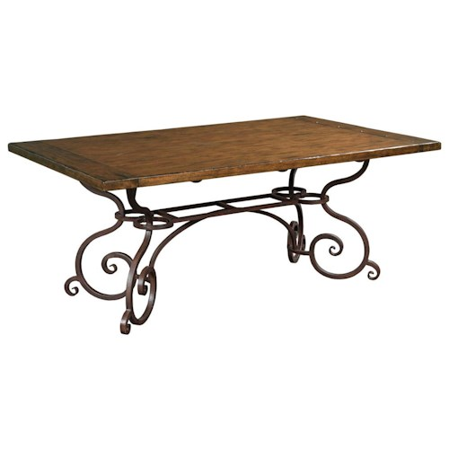 Kincaid furniture artisan 39 s shoppe dining 90 2115p 72 for Dining room table 90 inch