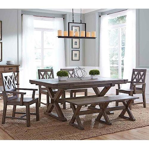 Kincaid Furniture Foundry 6 Pc Dining Set Hudson S
