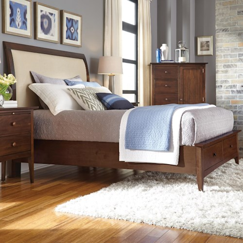 Kincaid Furniture Gatherings King Meridian Bed With Storage Footboard Story Lee Furniture
