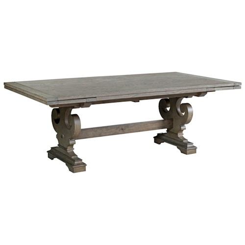 Kincaid furniture greyson crawford refectory dining table for Greyson dining table