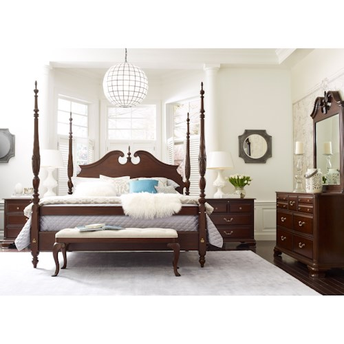 Kincaid furniture hadleigh queen bedroom group wayside for Bedroom furniture groups
