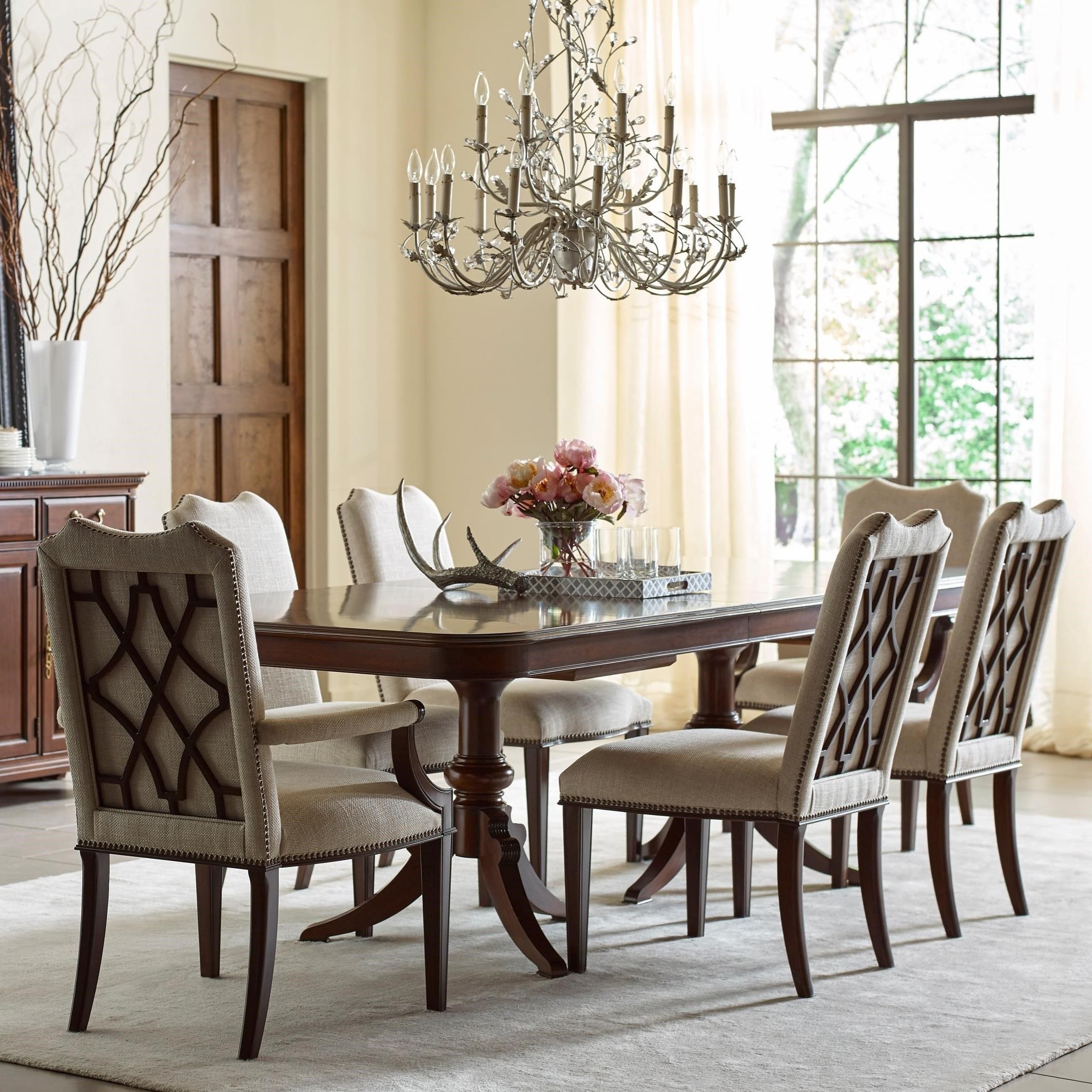 Kincaid Dining Room Set: Kincaid Furniture Hadleigh Seven Piece Formal Dining Set With Upholstered Chairs
