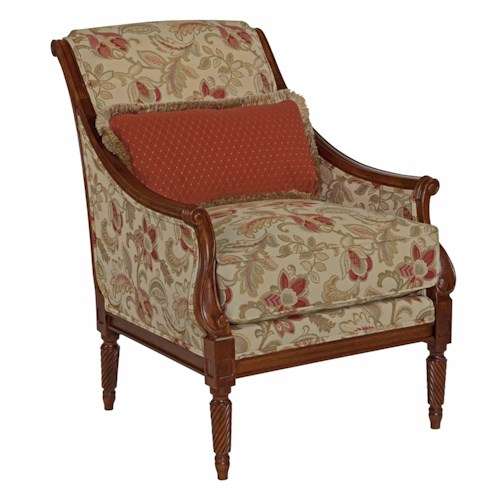 Kincaid furniture accent chairs wooden arm chair hudson