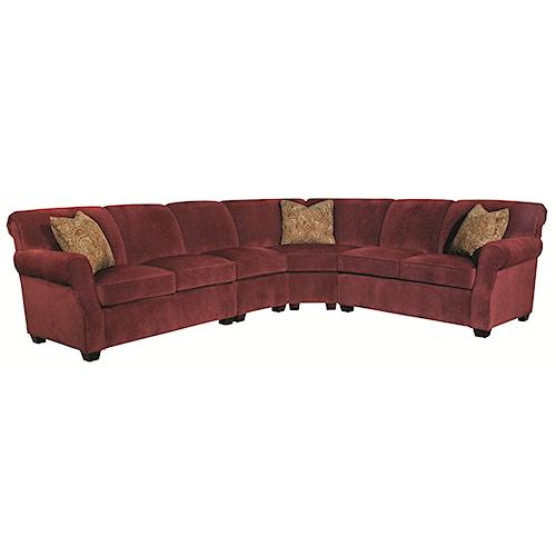 Kincaid Furniture Lynchburg Four Piece Sectional Sofa Becker Furniture World Sofa Sectional