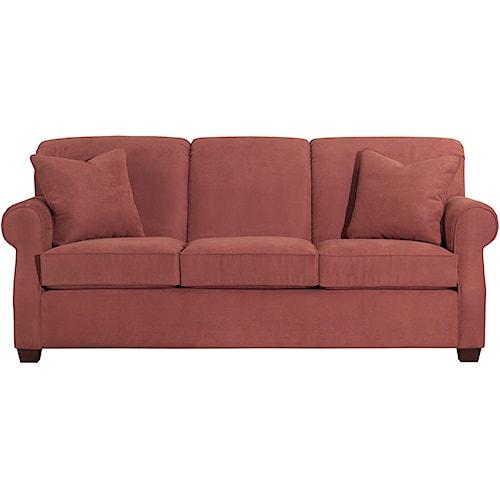 Kincaid Furniture Lynchburg Sofa With Rolled Back And Tapered Wood Feet Becker Furniture World