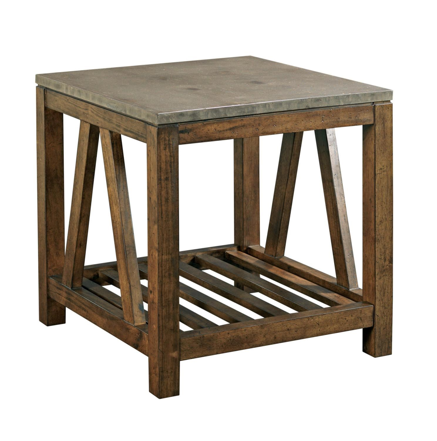 Kincaid Furniture Mason Industrial Rustic End Table with ...
