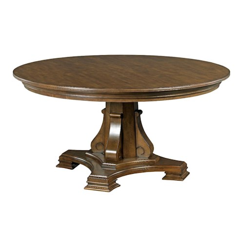 Kincaid Furniture Portolone Stellia 60 Round Solid Wood Dining Table Wi