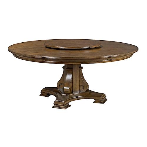 Kincaid Furniture Portolone 95 053P 72 Round Dining Table