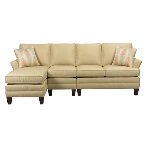 Kincaid furniture studio select customizable three piece for 3pc sectional with chaise