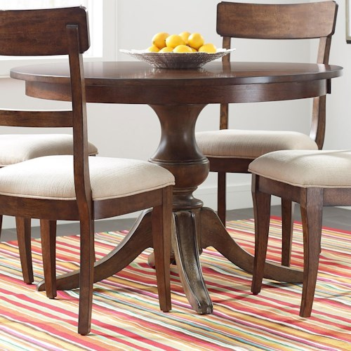 Kincaid furniture the nook 44 round solid wood dining for Solid wood round kitchen table