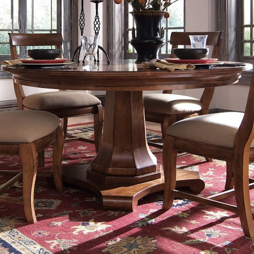 Kincaid Furniture Tuscano 96 052p 58 Round Dining Table Northeast Factory Direct Dining