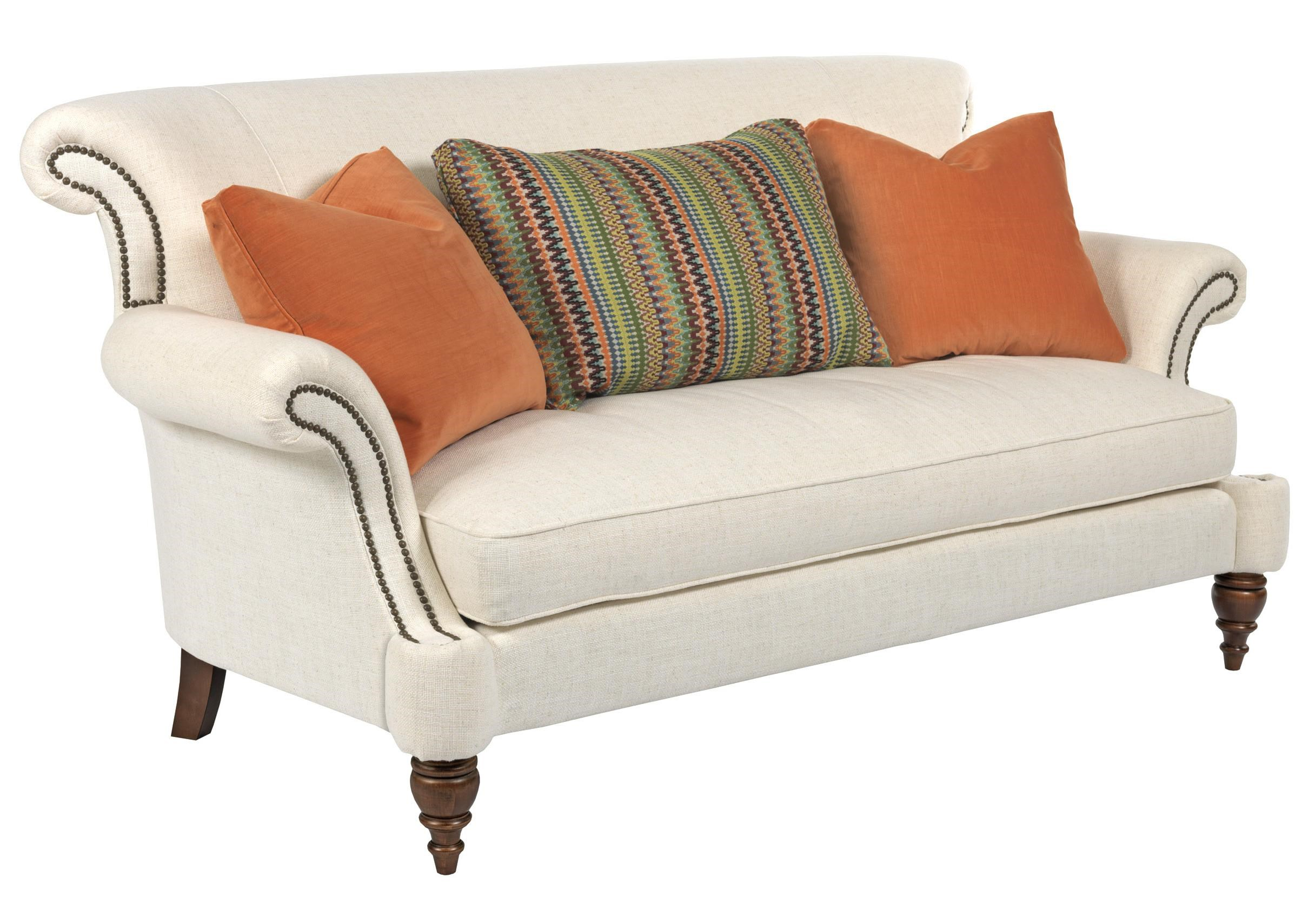 Kincaid Furniture Windsor Traditional Settee With Rolled