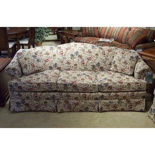 King Hickory 6800 85 Quot Firm Cushion Camel Back Sofa Story