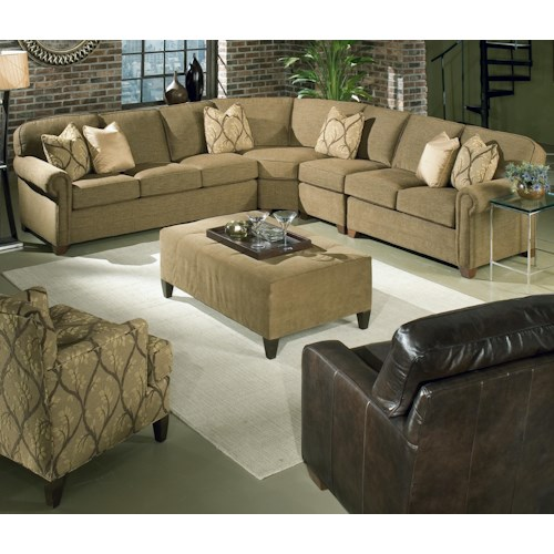 Sectional Sofas In Hickory Nc: King Hickory Brighton 4 Piece Customizable Sectional