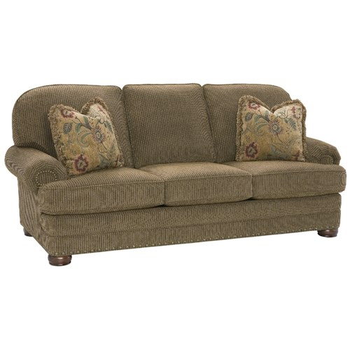 King Hickory Edward High Class Living Room Sofa With Casual Charm Story Lee Furniture Sofa