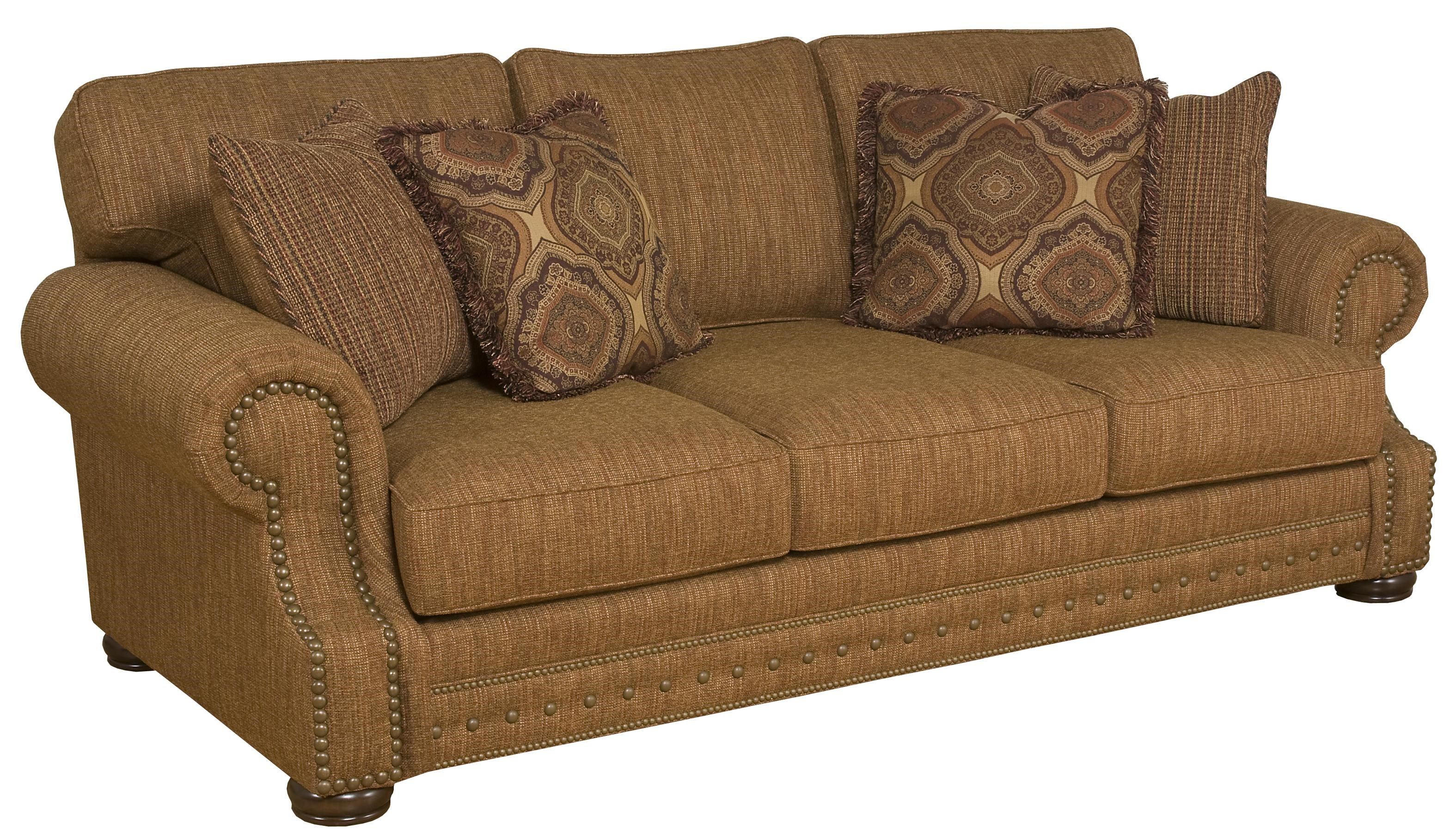 King Hickory Edward Stationary Sofa with Rolled Arms Zak's Fine Furniture Sofa Tri Cities