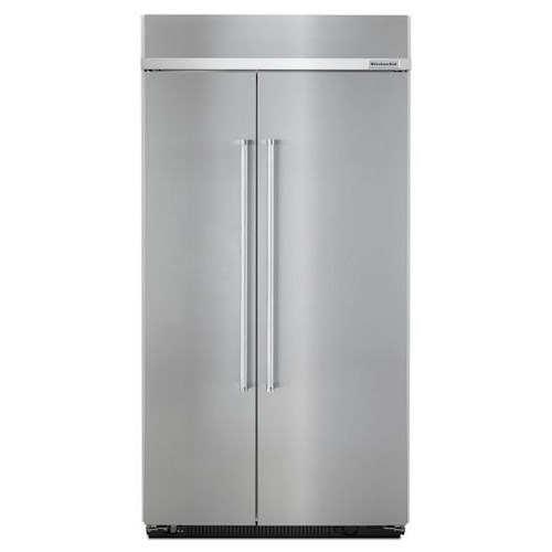 kitchenaid 25 5 cu ft 42 inch width built in side by side