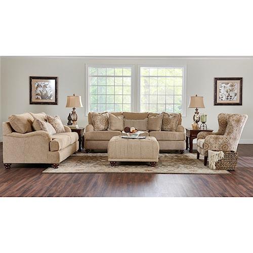 Klaussner Declan Living Room Group Royal Furniture Upholstery Group Memph