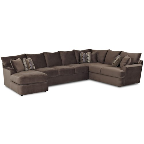 Klaussner findley l shaped sectional sofa with left chaise for L shaped chaise lounge