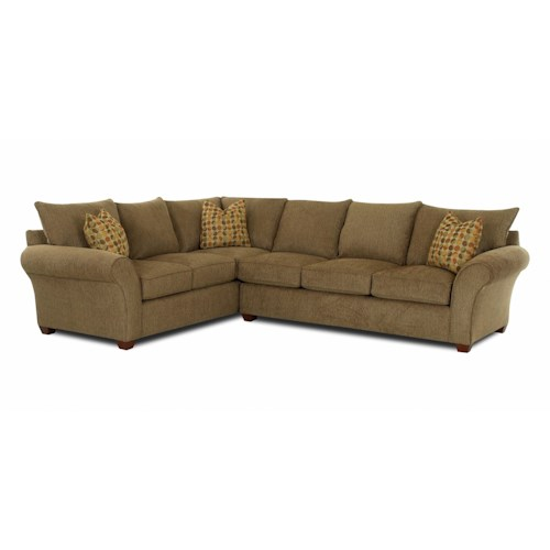 klaussner fletcher transitional 2 piece sectional sofa With wayside furniture sectional sofa