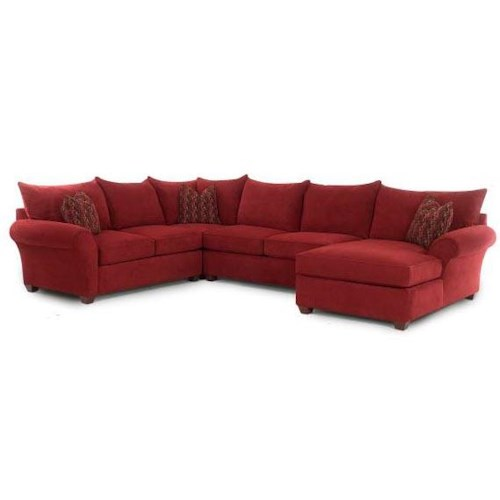 Frank Sectional Sofa Bed: Klaussner Fletcher 36600-SECT Sectional Sofa