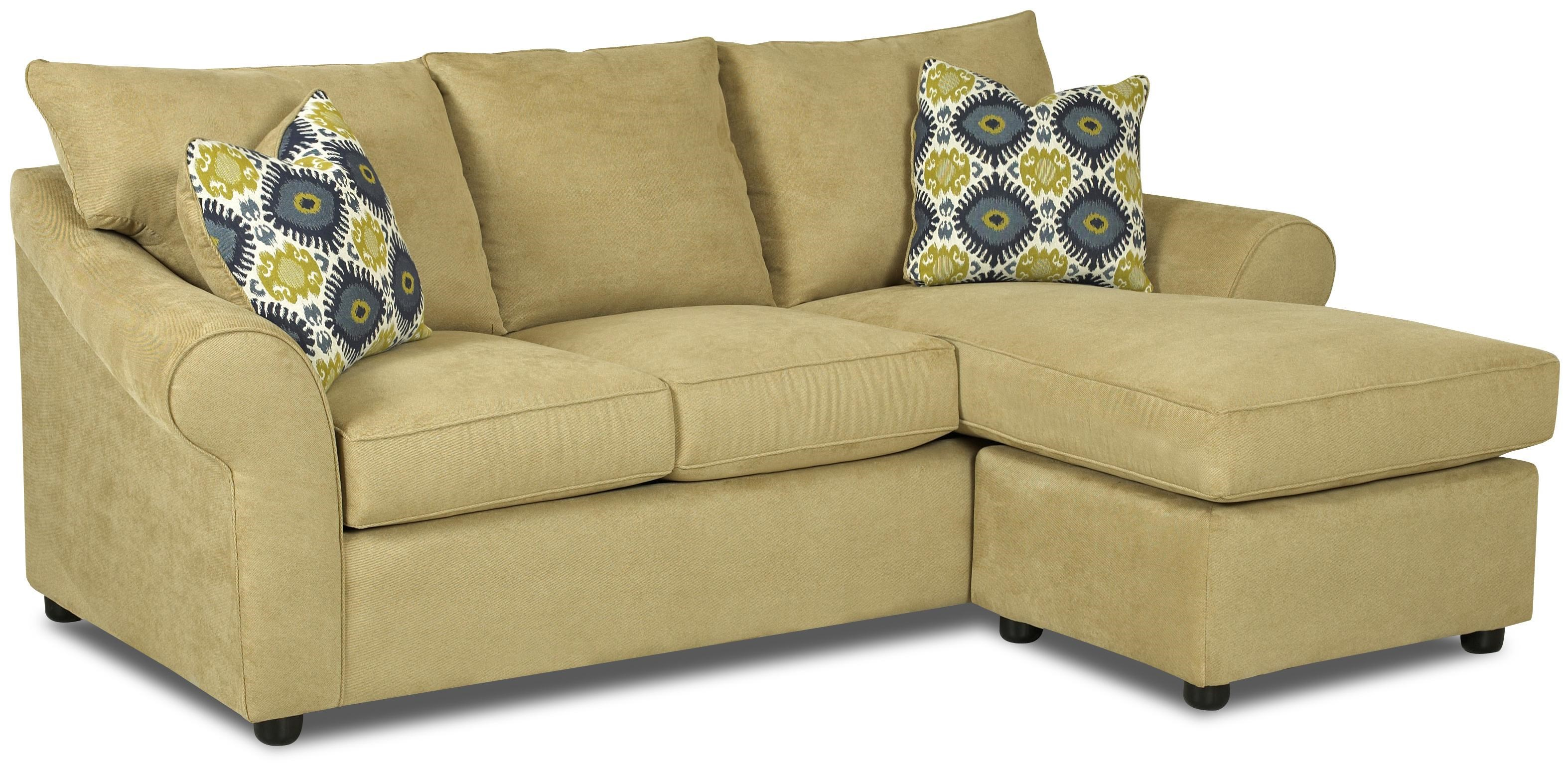 Klaussner Folio Sofa With Reversible Chaise Lounge