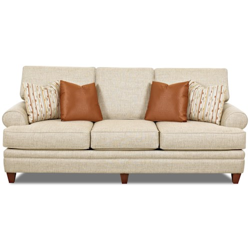 Ashley Furniture In Fresno Ca: Klaussner Fresno Transitional Sofa With Low Profile Rolled