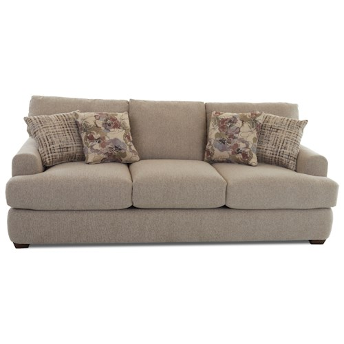 klaussner haynes casual sofa with deep seats and club arms With sectional sofas haynes