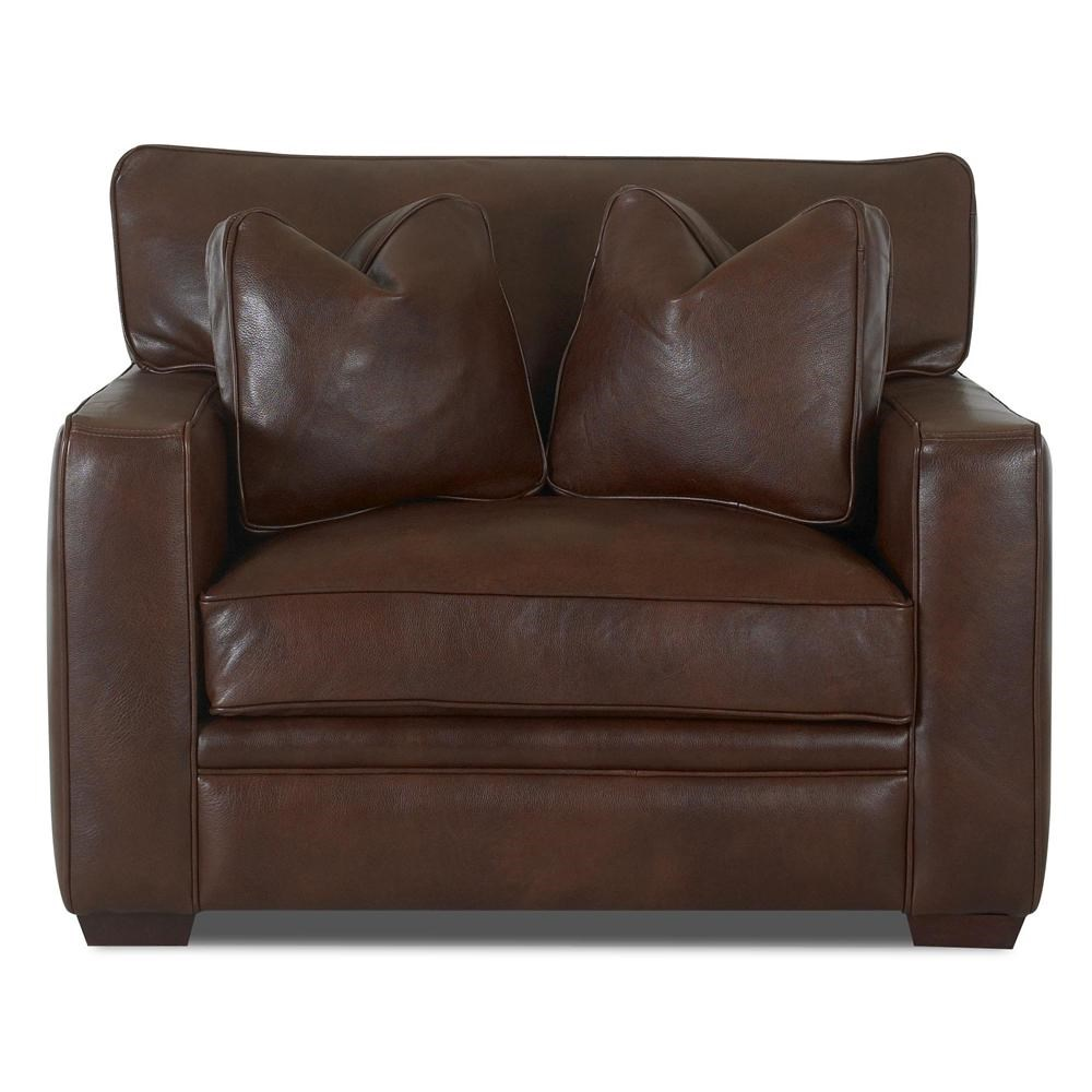 Klaussner Homestead Leather Chair - Wayside Furniture - Chair u0026 a Half