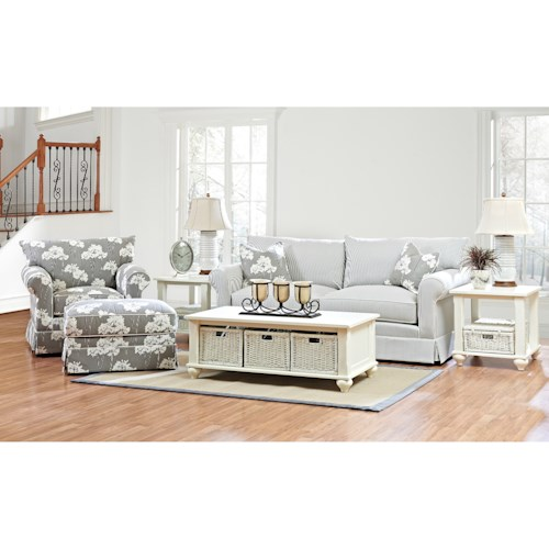 Klaussner Jenny Living Room Group Wayside Furniture Stationary Living Roo