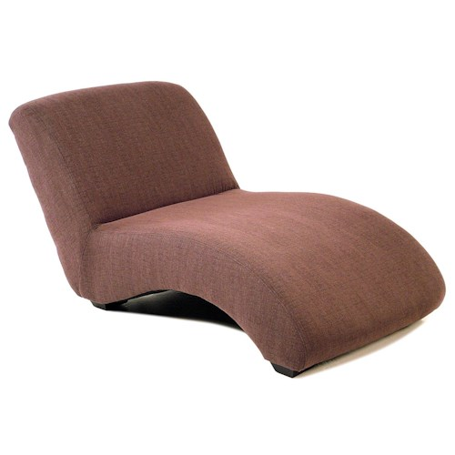 Chairs and accents calypso oversized armless chaise for Accent chaise lounge