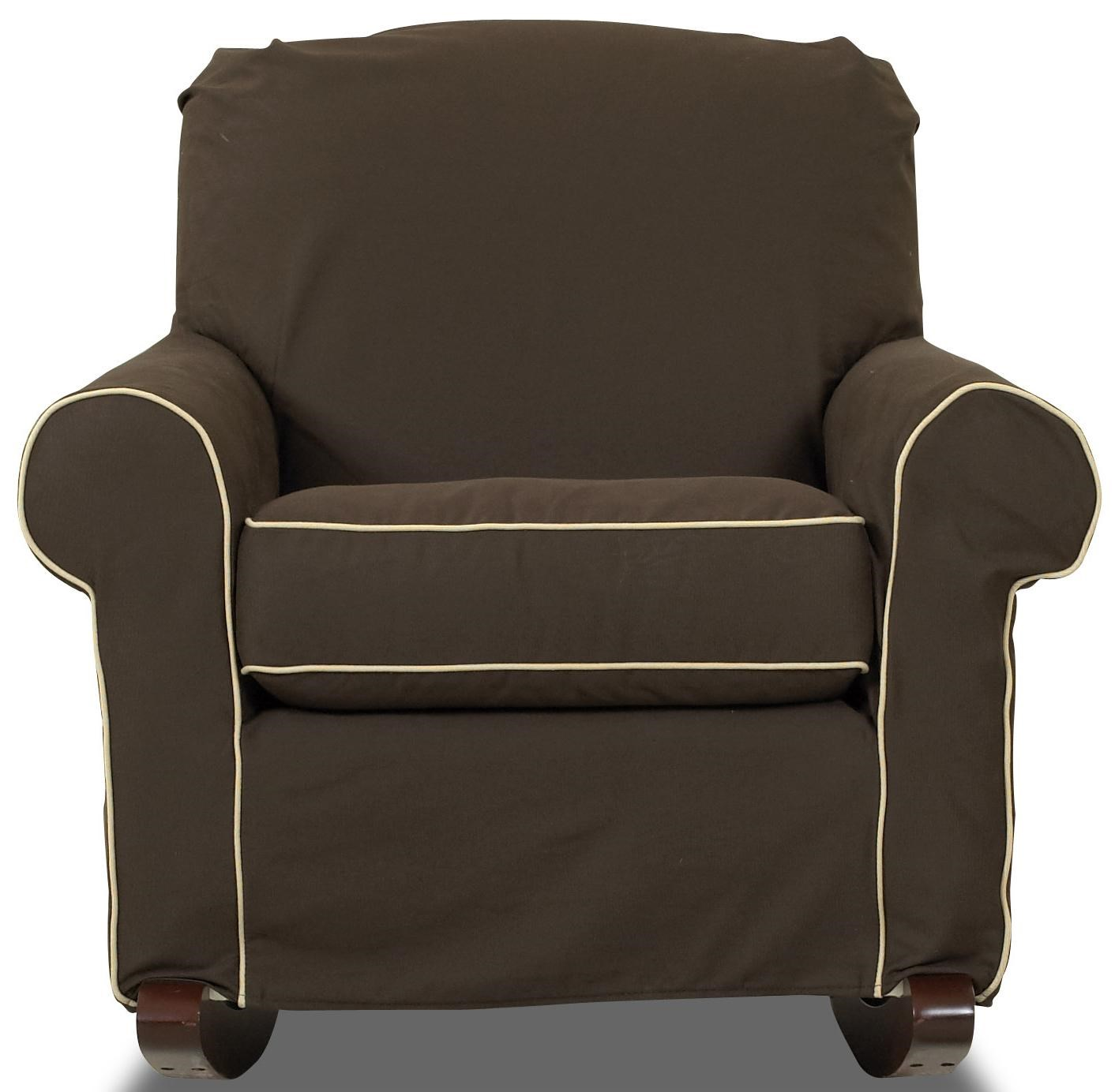 klaussner chairs and accents chair with slip cover