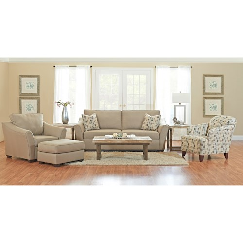 Klaussner Linville Living Room Group Johnny Janosik Stationary Living Roo