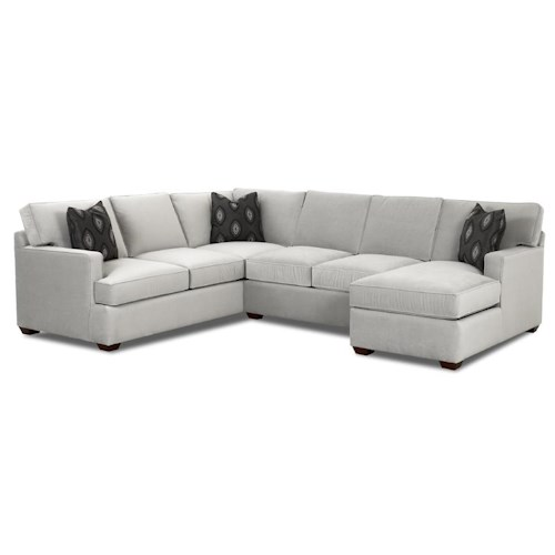 Br Thult Corner Sofa Bed Review: Klaussner Loomis Sectional Sofa Group With Chaise Lounge