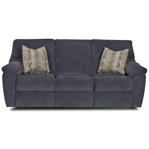 Klaussner Odessa Casual Power Reclining Sofa With Pillow Arms And Accent Pillows Pilgrim
