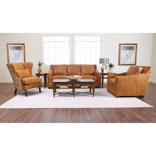 Klaussner Owen Living Room Group Wayside Furniture Stationary Living Room
