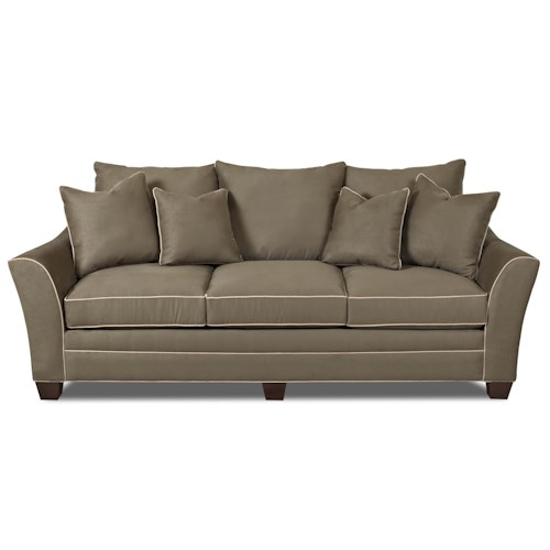Furniture Store Clearance: Klaussner Sadie Contemporary Sofa With Block Feet