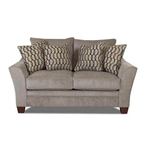 Klaussner Posen Contemporary Loveseat Godby Home