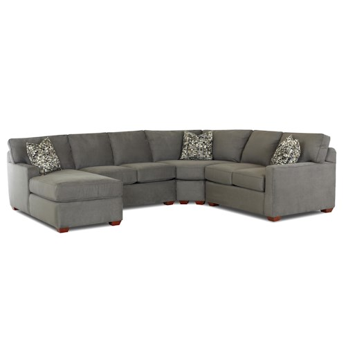 Klaussner Selection Contemporary L Shaped Sectional Sofa
