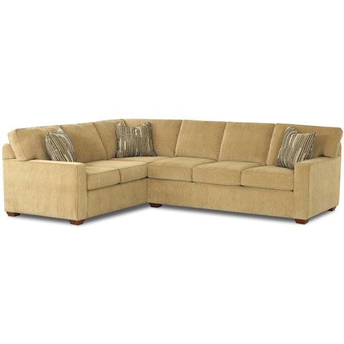 Klaussner Selection L-Shaped Contemporary Sectional ...