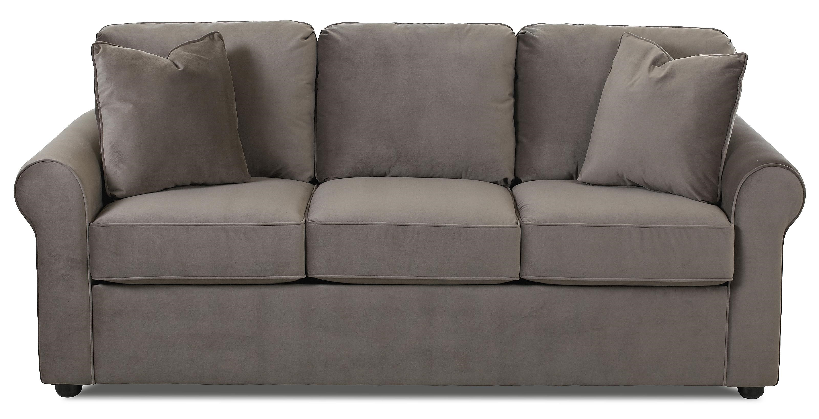 Klaussner Silva Casual Sofa with Rolled Arms - Furniture Barn - Sofa Pennsville, Bear, Newark ...