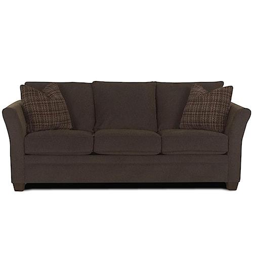 klaussner taylor contemporary queen air coil mattress sofa sleeper pilgrim furniture city. Black Bedroom Furniture Sets. Home Design Ideas