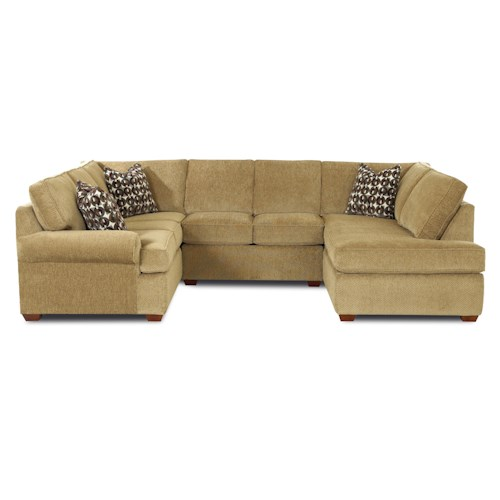 Klaussner Troupe Sectional Sofa Godby Home Furnishings