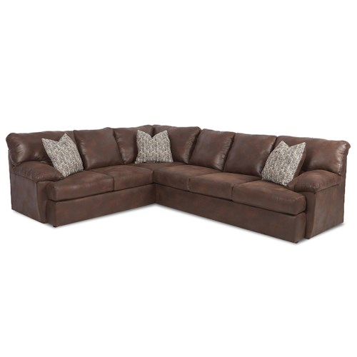 klaussner walton casual sectional sofa pilgrim furniture city sofa sectional. Black Bedroom Furniture Sets. Home Design Ideas